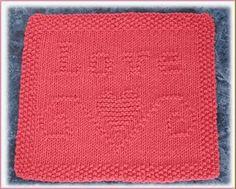 Love Free Knit Dishcloth Pattern