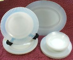 Macbeth Evans Monax Petalware Depression Glass Dish Set 13pcs   eBay