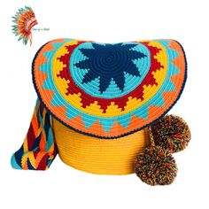 Tapestry Bag, Tapestry Crochet, Drops Design, Poufs, Purses And Bags, Weaving, Patterns, Knitting, Hats