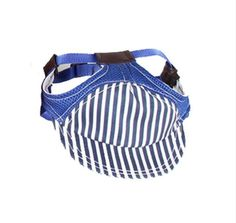 Pet Dog Cat Outdoor Travel Hat Striped Pattern Baseball Cap Breathable Summer Sunscreen Cat Dog Hat For Large Dogs Sports S3