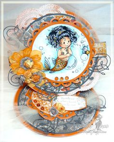 """Wee Stamp image """"Goldie"""" by Sylvia Zet for Whimsey Stamps...colored with Copics and for the Magnolia-licious Wee Wednesday post...by Suzanne J Dean  http://magnoliastamps.us/store2/brand-new-wee-collection-1/"""