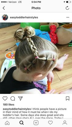 Except small braids from each pony Toddler Hairstyles Girl braids pony Small Girls Hairdos, Lil Girl Hairstyles, Princess Hairstyles, Toddler Hairstyles, Toddler Hair Dos, Simple Hairstyles, Toddler Girl, Wedding Hairstyles, Hair Due
