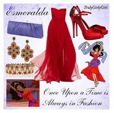 """Disney Style: Esmeralda (2)"" by trulygirlygirl ❤ liked on Polyvore"