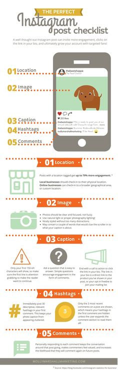 instagram checklist   instagram tips and tricks  instagram cheatsheet