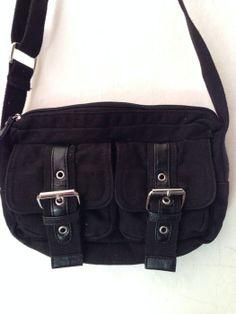 Tasche Handtasche Umhängetasche schwarz Gothic Hipster Goa Hippie