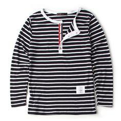 코디하기 좋은 단가라 헨리넥 긴팔티셔츠-rt511 - [존클락]30대 남자옷쇼핑몰, 깔끔한 캐쥬얼 데일리룩, 추천코디