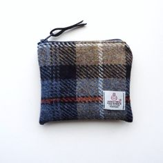Harris Tweed change purse in Mackenzie tartan by LifeCovers, $14.00