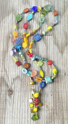 """Mixed GlassWear """"Bright Sunny Day"""" Necklace by Toni McCarthy"""