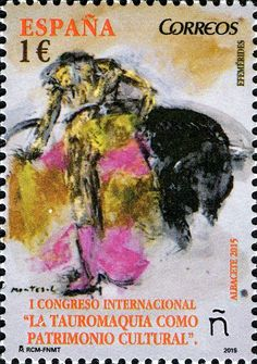 Stamp: 1st International Congress of Bullfighting (Spain) (Anniversaries) Mi:ES…