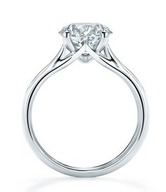 "The initials 'MW' subtly form the shape of the shank in Mappin & Webb ""Ena Harkness"" engagement ring (£32,250)."