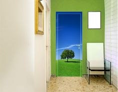 Door Wall Mural - adhesive Relaxation