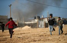 The strikes came after a rocket was fired earlier on Monday from Gaza and hit an open area along the Israeli border, causing no injuries