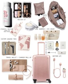 Gift guide for the frequent flyer the working girl travel light with core closet essentials + free checklist Travel Packing Checklist, Travel Bag Essentials, Road Trip Packing, Travelling Tips, Packing Hacks, Airplane Essentials, Luggage Packing, Vacation Packing, Travel Packing Outfits