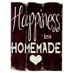 Cute Idea! Red Happiness is Homemade Faux Wood Plank Sign | Shop Hobby Lobby