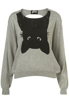 Cat Backless Sweater//