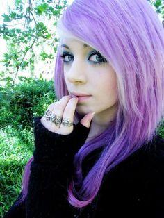 purple scene hair   amber mccrakin, cute, gorgeous, purple hair, scene queen - inspiring ...