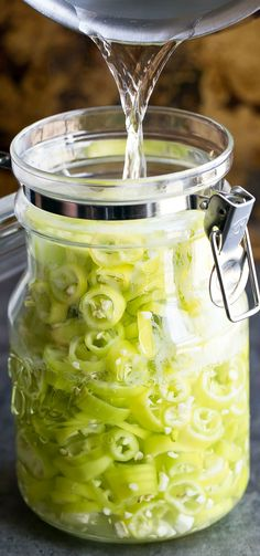 These Quick Pickled Banana Peppers are fast and delicious! Skip the store and make your own zesty banana peppers at home with this easy peasy refrigerator pickled pepper recipe. Best Vegetarian Recipes, Easy Delicious Recipes, Easy Recipes, Ramen Recipes, Noodle Recipes, Fudge Recipes, Vegan Vegetarian, Chicken Recipes, Recipes With Banana Peppers