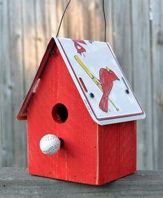 Art STL Cardinals Birdhouse! home-decor
