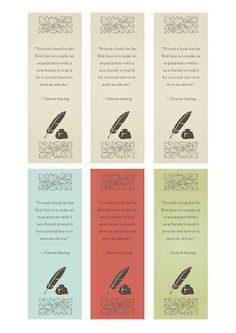 Vintage bookmarks - free printables