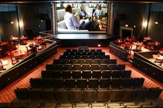 Os cinemas mais bonitos do mundo - The Bijou Theatre, Bridgeport Dine In Theater, Cinema Theatre, Theatre Design, Movie Theater, Cinemas In London, Home Cinemas, Newport, Home Cinema Room, Home Theater Rooms