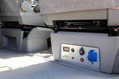 DBM Power Panel unter dem Beifahrersitz.
