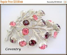 Sarah Coventry Purple Pink Brooch  Wisteria by VintagObsessions