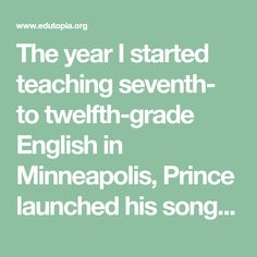 """The year I started teaching seventh- to twelfth-grade English in Minneapolis, Prince launched his song about urban ruin, """"Sign o' the Times."""" That song was an apt musical backdrop for the lives of my students, most of whom lived in poverty and challenged me daily. Fortunately, classroom order improved when I learned that successful classroom management depends on conscientiously executing a few big strategies and a lot of little ones."""