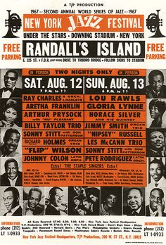 Inramad affisch New York Jazz Festival - Handbill 1967 Festival Jazz, Festival Posters, Francis Wolff, Jimmy Smith, Vintage Concert Posters, Jazz Poster, Rock Festivals, Old Music, Jazz Musicians