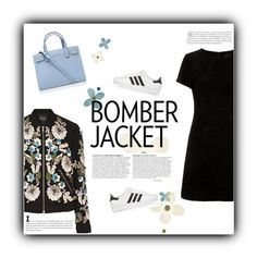 """Bomber Jacket."" by maridhz ❤ liked on Polyvore featuring Needle & Thread, adidas Originals, Kurt Geiger, Anja, women's clothing, women, female, woman, misses and juniors"