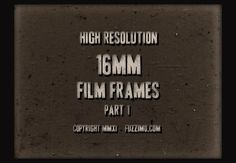 """*Free Hi-Res 16MM Film Frame Images Part 1[fuzzimo*]--""""I don't think I ever spent so much time on a post image as this one. :) I just had to make use of the 16mm film countdown leader. So click play to see the image sequence (might run slow on older computers). Anyhow, here are some high resolution scans of old 16mm film frames. The widths of the film strips are about 700px."""
