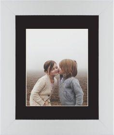 Photo Gallery Framed Print, White, Contemporary, Cream, Black, Single piece, 8 x 10 inches