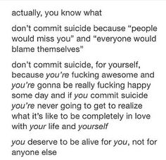 Learn to love yourself, there's only one (sometimes)