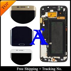 Free Shipping + Tracking No. 100% test Original For Samsung Galaxy S6 Edge G925F LCD Digitizer Assembly Frame - Blue/White/Gold