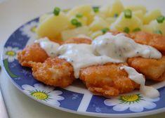 Kuřecí kousky v sýrovém těstíčku Baked Potato, Potato Salad, Cauliflower, Potatoes, Treats, Chicken, Baking, Vegetables, Ethnic Recipes