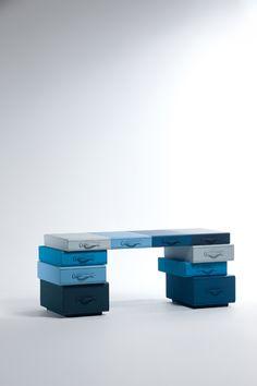 Desk Of Briefcases - Maarten De Ceulaer