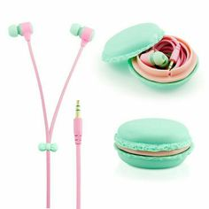 GEARONIC TM Stereo In Ear Earphones Earbuds Headset with Macaron Case For iPhone Samsung iPod PC Music - Blue Information about these headphones: I bought these in January of lasted for a month. Iphone 6, Coque Iphone, Iphone Cases, Apple Iphone, Iphone Headset, Iphone Headphones, Sony Phone, Wireless Headphones, Smartphone