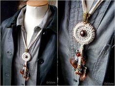 Como hacer un Collar con Cremallera-Argolla a Crochet - enrHedando