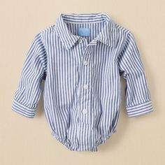 newborn - boys - striped button-down bodysuit | Children's Clothing | Kids Clothes | The Children's Place