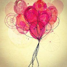 Balloons. Sweet William.