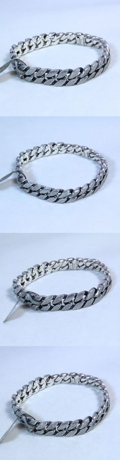 Bracelets 137835: David Yurman Men S Stippled Sterling Silver Curb Chain Bracelet 8.5 $1050 Nwt -> BUY IT NOW ONLY: $825 on eBay!