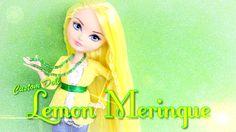 Custom Doll: Strawberry Shortcake Lemon Meringue -- How to make denim skirt, lace shirt, jacket, and necklace.