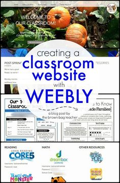 Creating a Classroom Website using Weebly A great example of a classroom website and how the teacher created it using Weebly. Seems like an easy way to manage parent communication! Classroom Websites, Teacher Websites, Teacher Tools, School Classroom, Teacher Resources, Google Classroom, Teaching Ideas, Classroom Ideas, Teacher Stuff