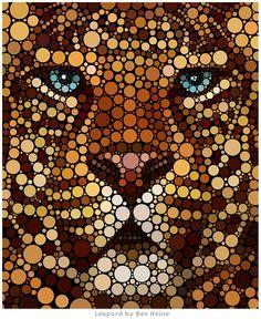 Awesome Digital Circlism Artwork by Ben Heine   InspiringMesh