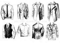 A study in formal wear by Spectrum-VII.devi… on A study in formal wear by Spectrum-VII. Suit Drawing, Manga Drawing, Drawing Sketches, Drawings, Sketching, Drawing Practice, Figure Drawing, Drawing Reference, Illustration Mode
