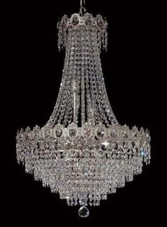 Lampara de Cristal - Nickel - Full Leaded Crystal - Lamparas de Cristal - Decorative Chandelier