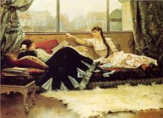 """Sarah Bernhardt and Christine Nilsson""  - Julius LeBlanc Stewart (1883)"