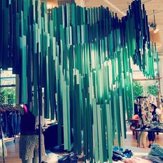 Look at this gorgeous #lucitegreen display at #anthropologie! I'm in love! #ColorOfTheMonth #FusionBeadsColorChallenge #inspired