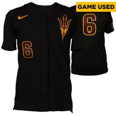 Arizona State Sun Devils Fanatics Authentic Game-Used Black #6 Softball Jersey used during the 2014-2015 Season - Size Medium - $112.49