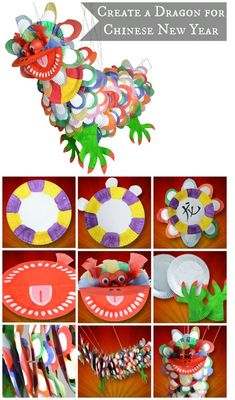 Get children involved in creating a dragon for Chinese New Year with our quick and easy guide Chinese Crafts, Chinese Art, New Year's Crafts, Holiday Crafts, Chinese New Year Activities, Chinese New Year Crafts For Kids, Chinese New Year Dragon, New Year Art, Dragon Crafts