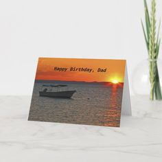 Shop Fishing Boat Happy Father's Day Grandfather Card created by SocolikCardShop. Happy Father's Day Husband, Happy Fathers Day Dad, Fathers Day Wishes, Happy Father Day Quotes, Happy Birthday Uncle, Husband Birthday, Card Birthday, Birthday Board, Fathers Day Pictures
